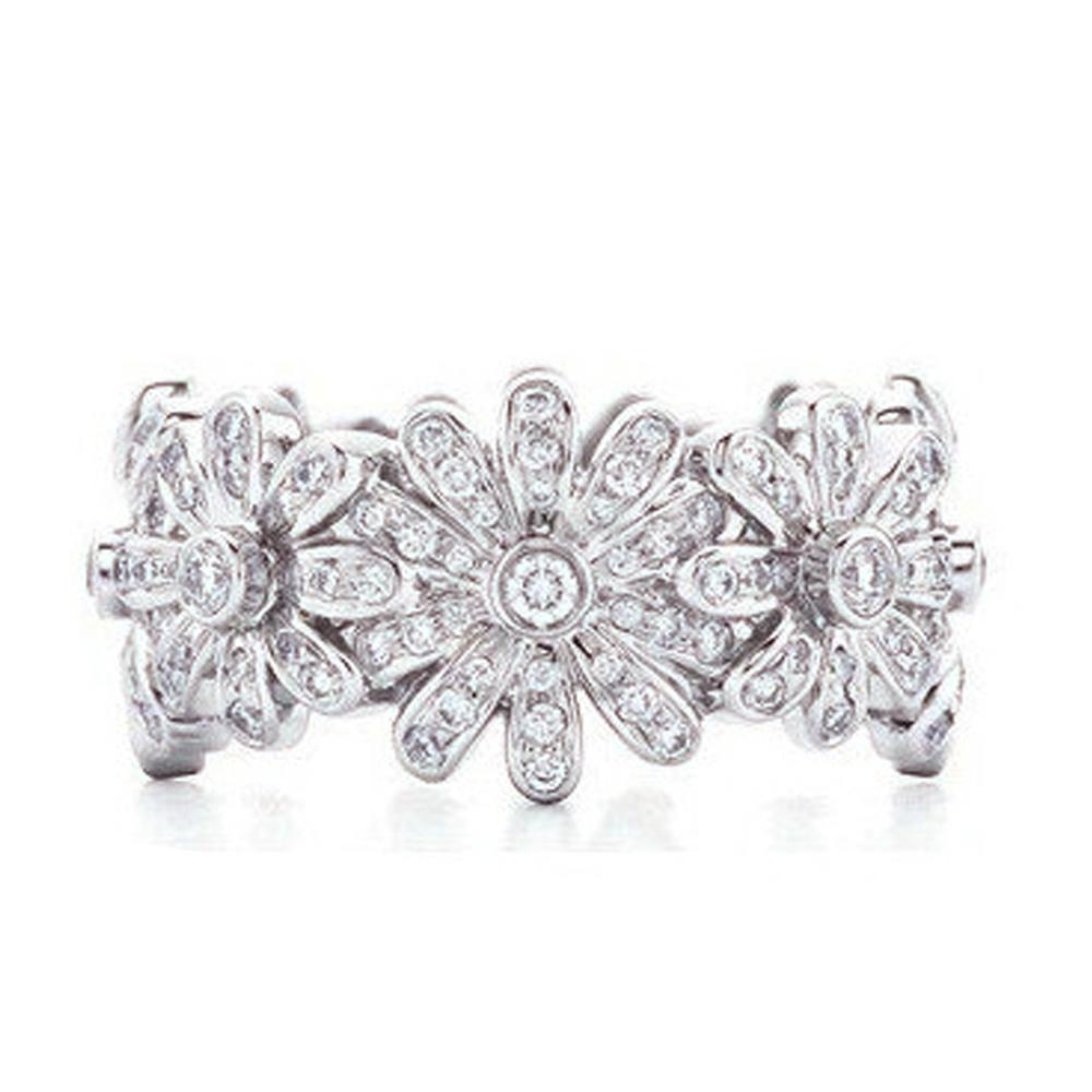 2019 promotional crystal flower design moon fantasy silver ring