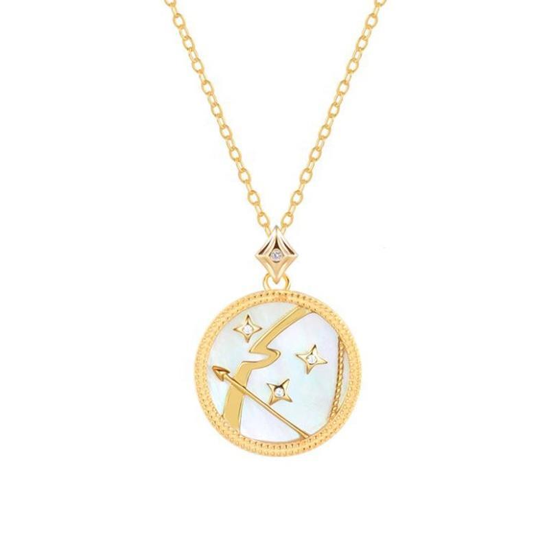 Sagittarius Zodiac Birth Symbol Necklace 925 Sterling Silver Jewelry