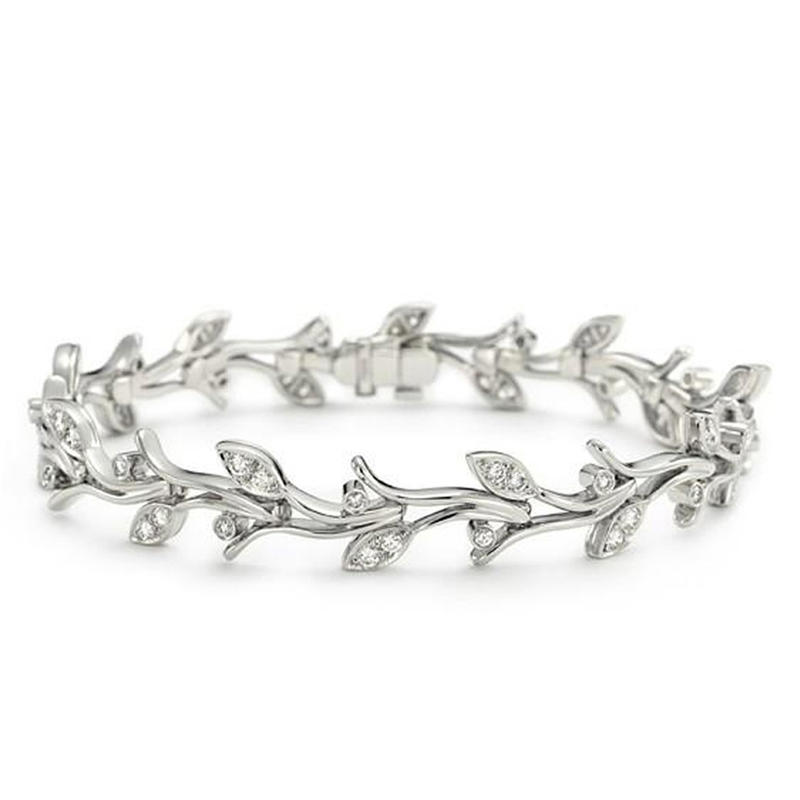 Beauty thin silver fashion jewelry bracelets chains for women