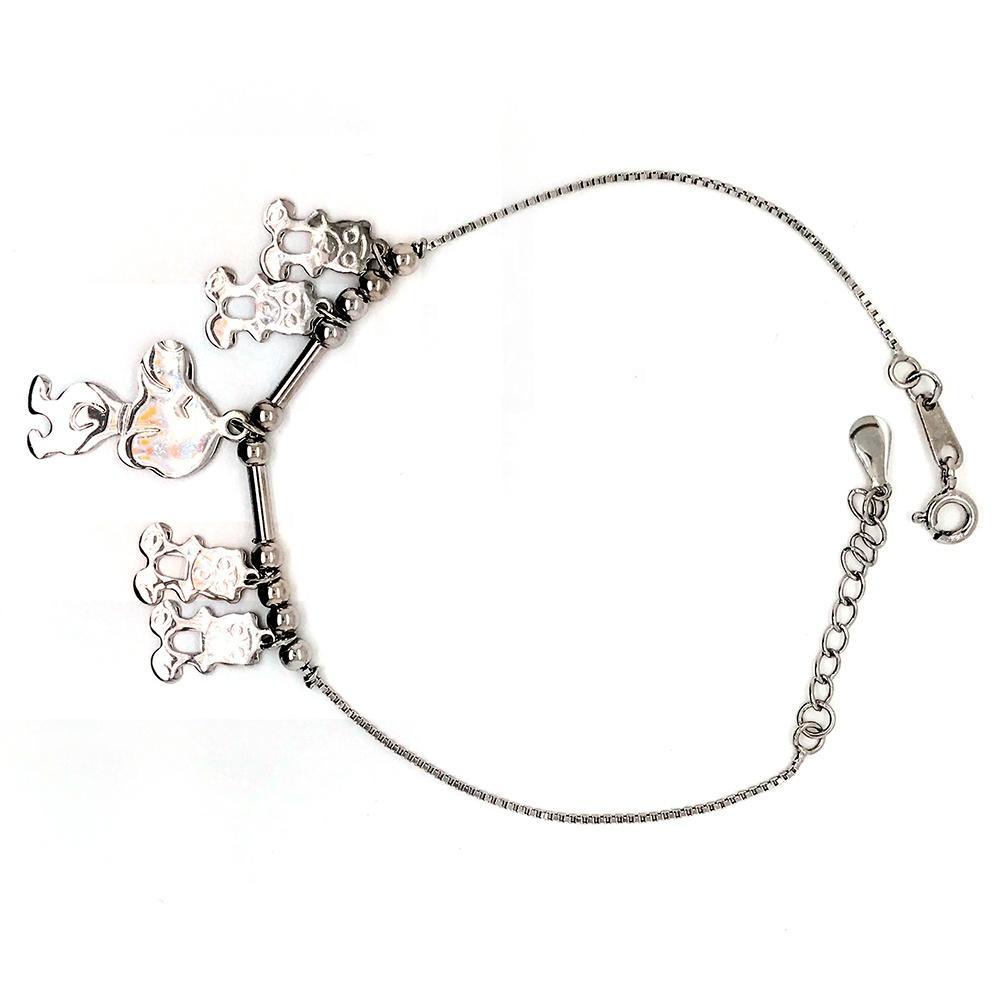 Handmade Cartoon Dog 925 Sterling Silver Jewellery Bracelets