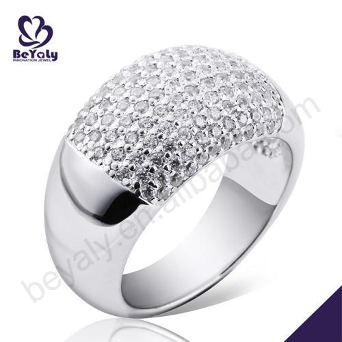 Women love beauty retail stock pave cz silver rings