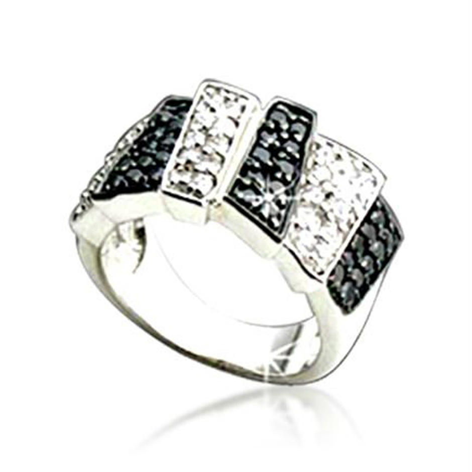 925 Silver Jewelry Piano Ring, Cubic Zirconia Knuckle Armor Ring