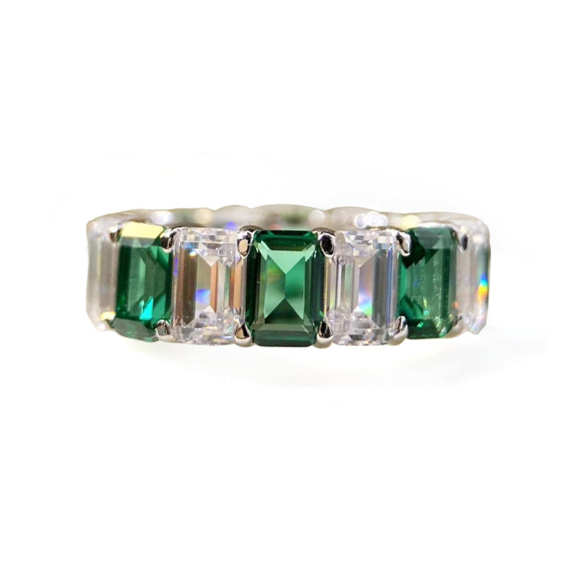 Rare Green Zircon Female Silver Ring Wholesale Jewelry Israel