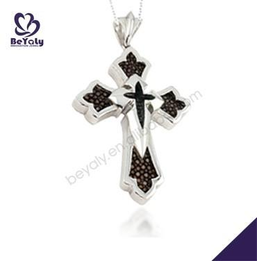 Black crown cross design silver fine jewellery silver 925