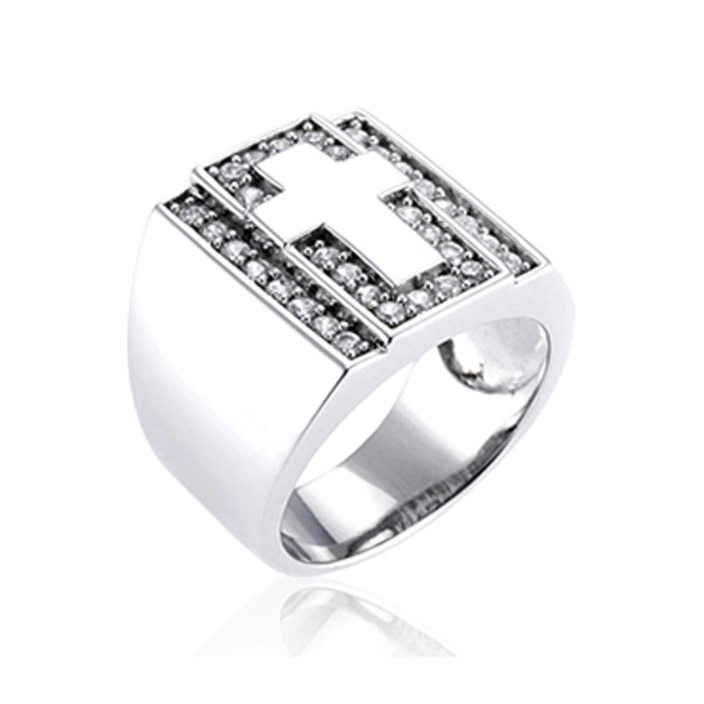 Grand Unisex Fashion Cz Set Ring Japan Silver Jewelry