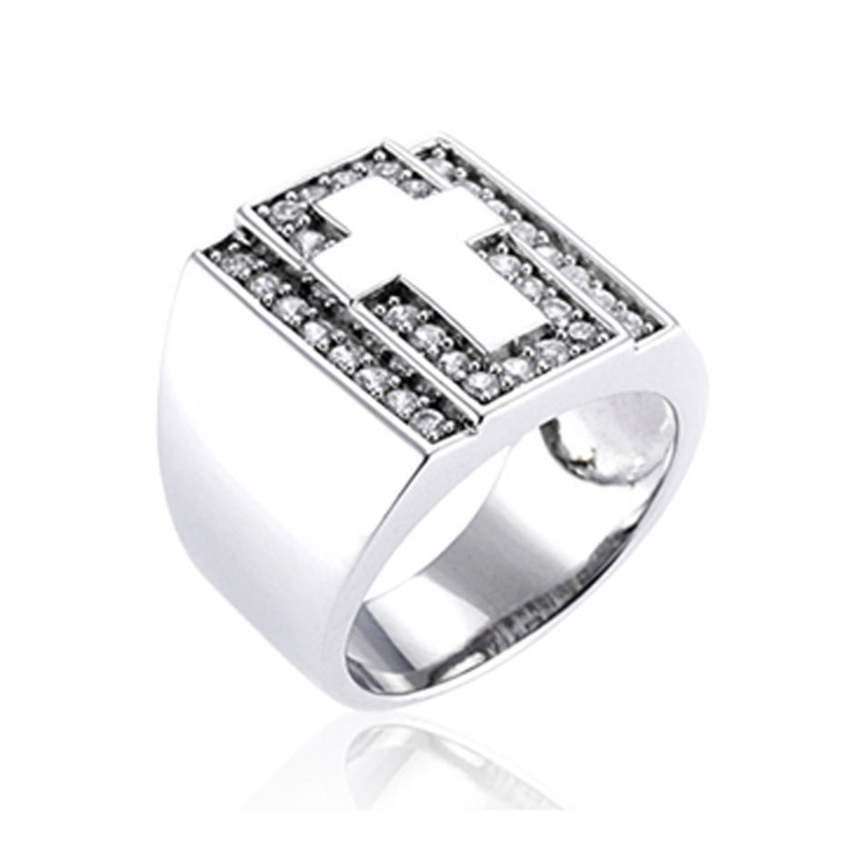 Grand Unisex Fashion Cz Set Ring Japan Silver Jewelry