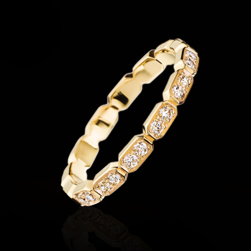 Brilliant shiny cubic zircon silver moroccan wedding rings