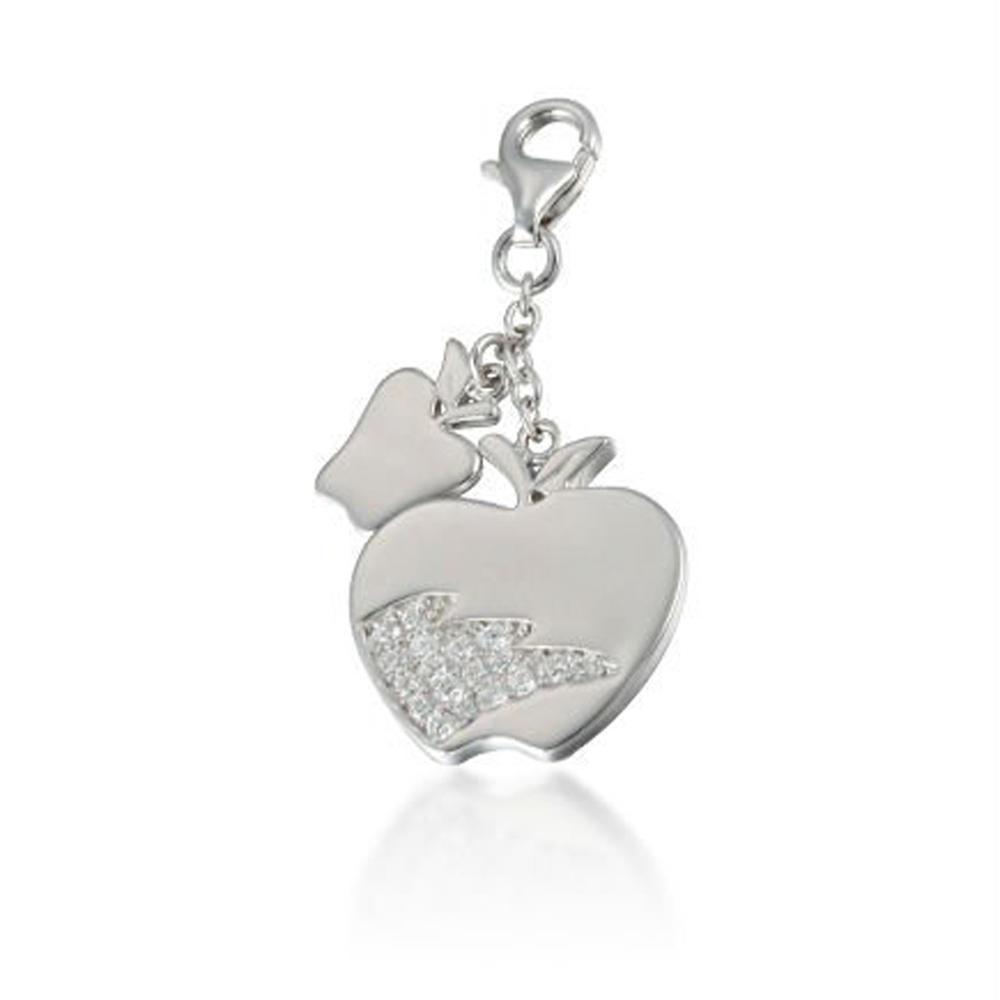 Simple design women adornment silver apple charms