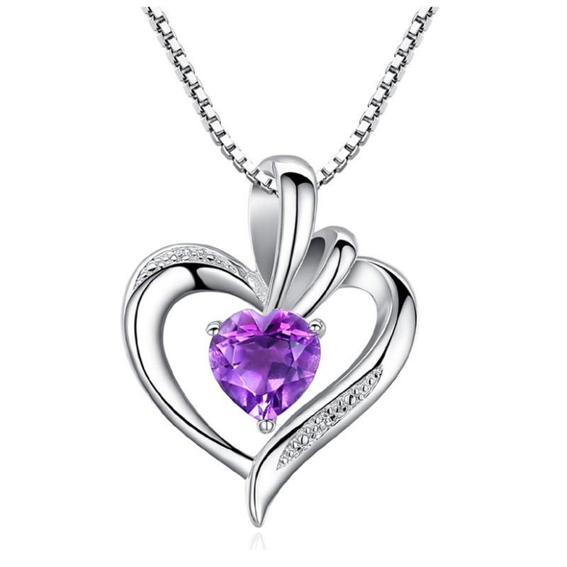 Fashion girls silver cage sapphire chinese character pendant