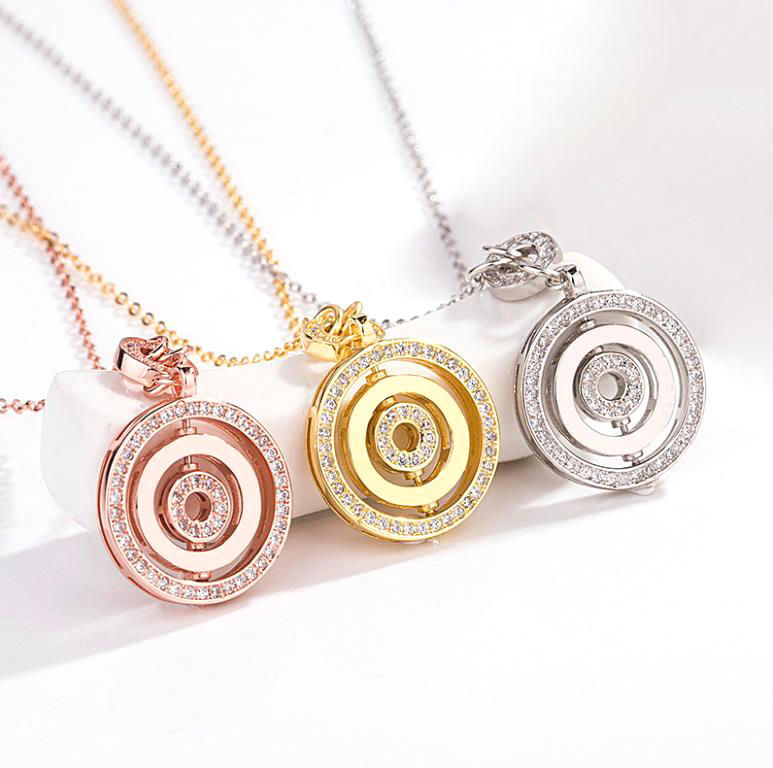 925 Sterling Silver Luck Has Turned Locket Mens Silver Necklace