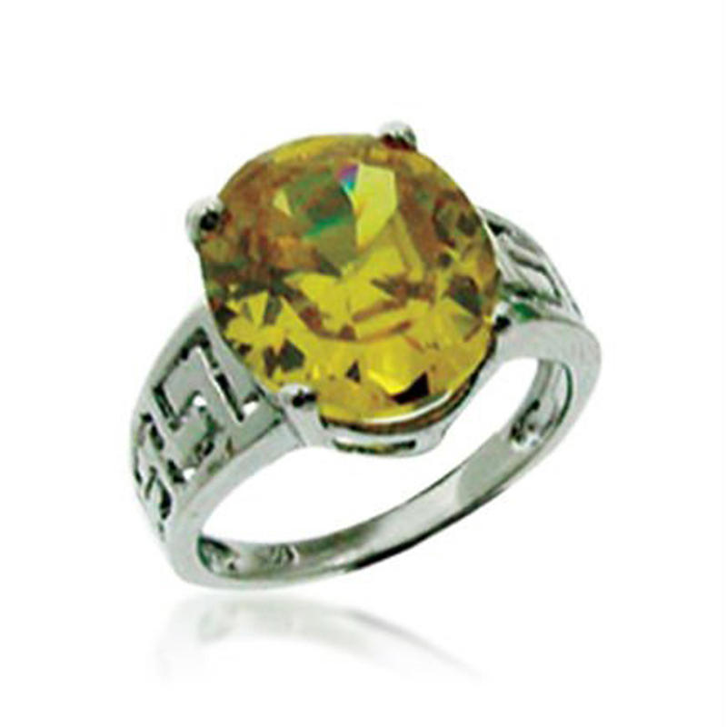 Colorful Turtle Shape Handmade Opal And Citrine Silver Rings