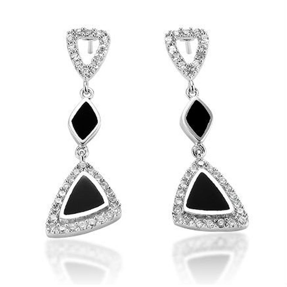 Graceful prom jewelry silver princess accessories earing