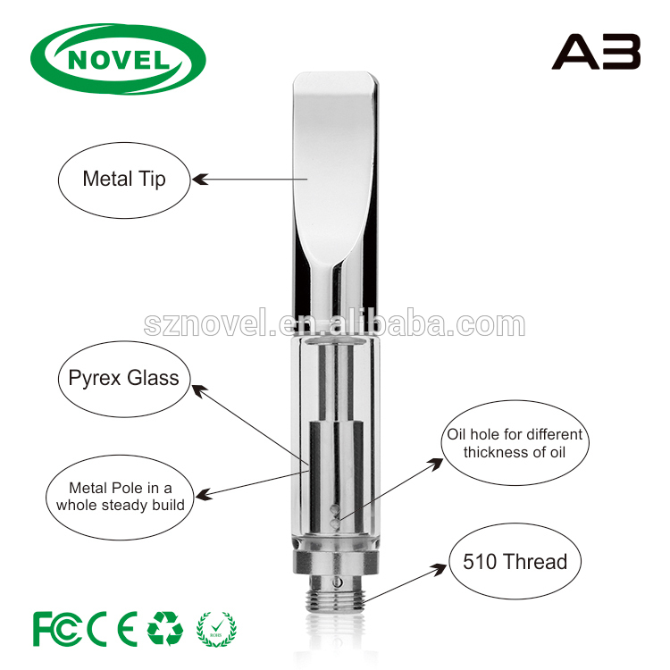 Eco-Friendly Reclaimed Material A3 510 Cbd Oil Refillable Cartridges