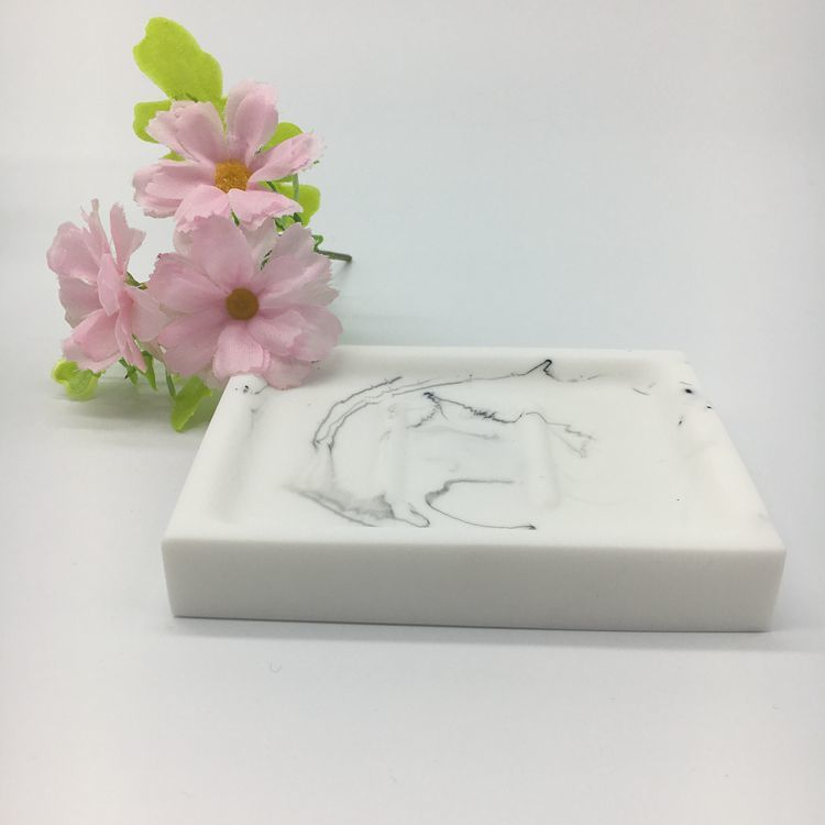 White Marble Resin Soap Dish