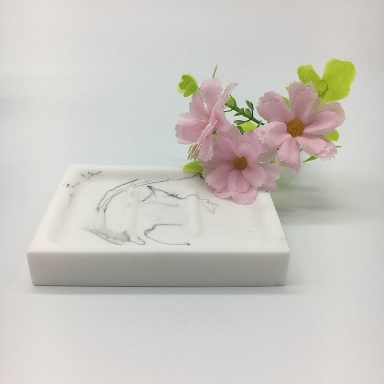 White Marble Resin Hotel Balfour Soap Dish