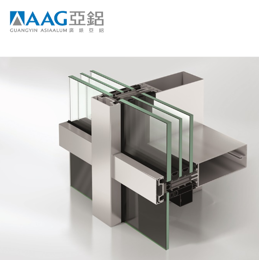 Glass Curtain Wall Aluminum Extrusion Profile For Building Materials