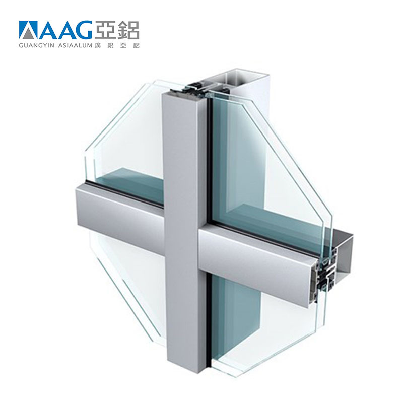 Good sale curtain wall detail dwg aluminum glass curtain wall