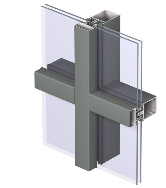 AD Top Quality Aluminum Glass Curtain WallSystem