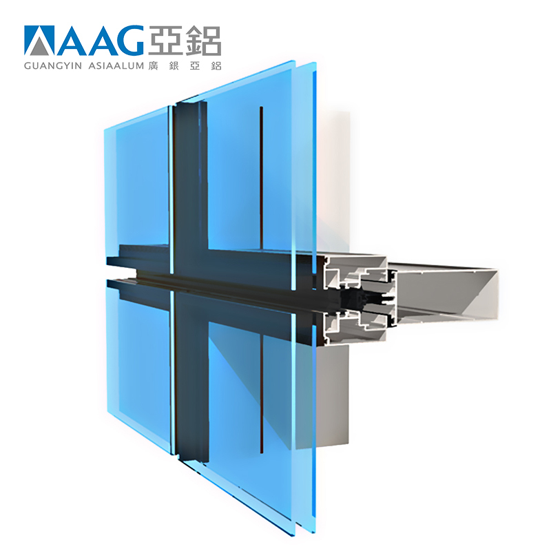 6000 series Aluminum curtain wall profile with cheap price