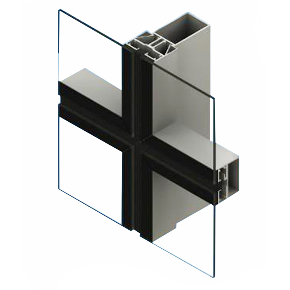 foshan price Aluminum Glass Curtain Wall Extrior Structural Glass