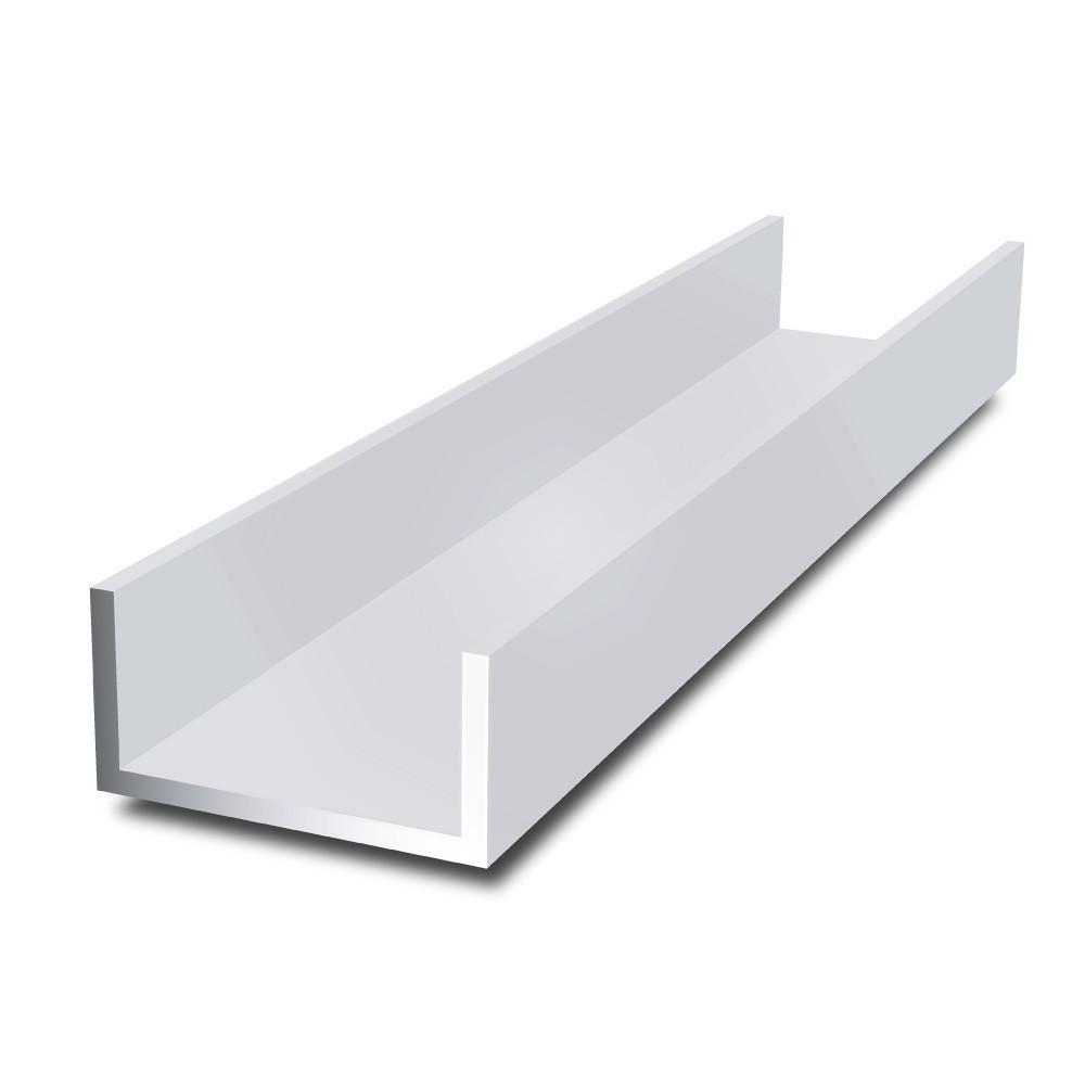 C shaped anodized silver aluminium extrusion profile