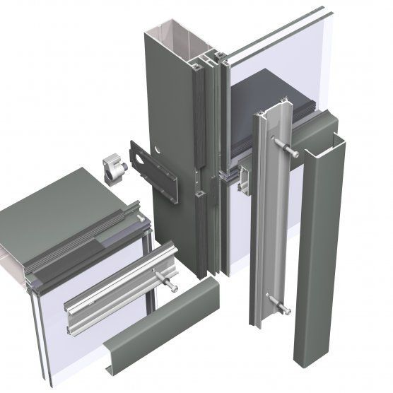 Building Material Aluminum Glass Curtain Wall Frameless Stick Systems