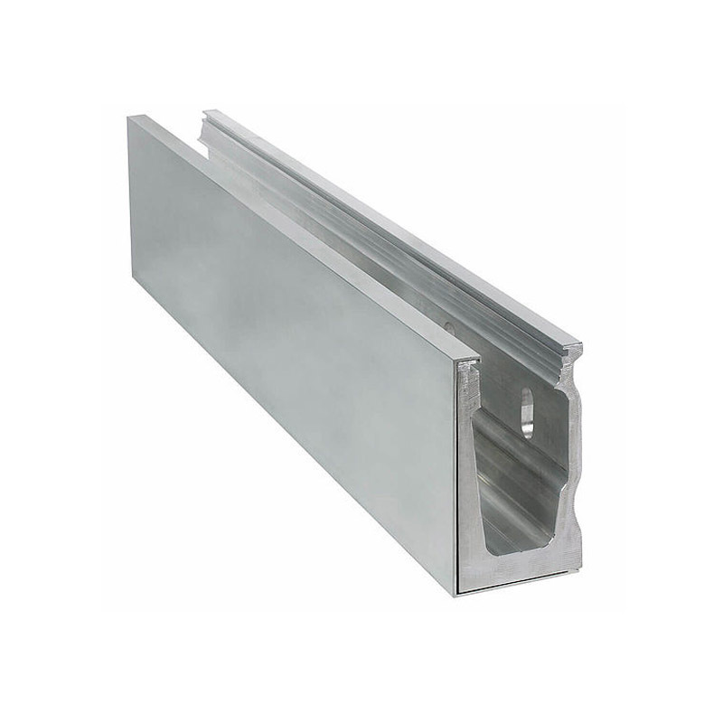 China manufacturer Aluminium u channel for 10mm glass aluminum glazing channel