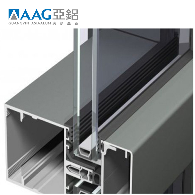 Decorative Glass And Aluminum Curtain Wall With Low Price