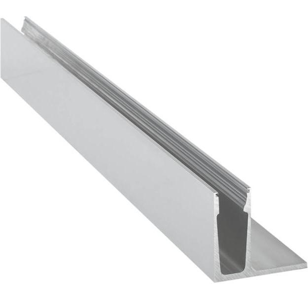 Frameless aluminium U channel glass railing for balcony