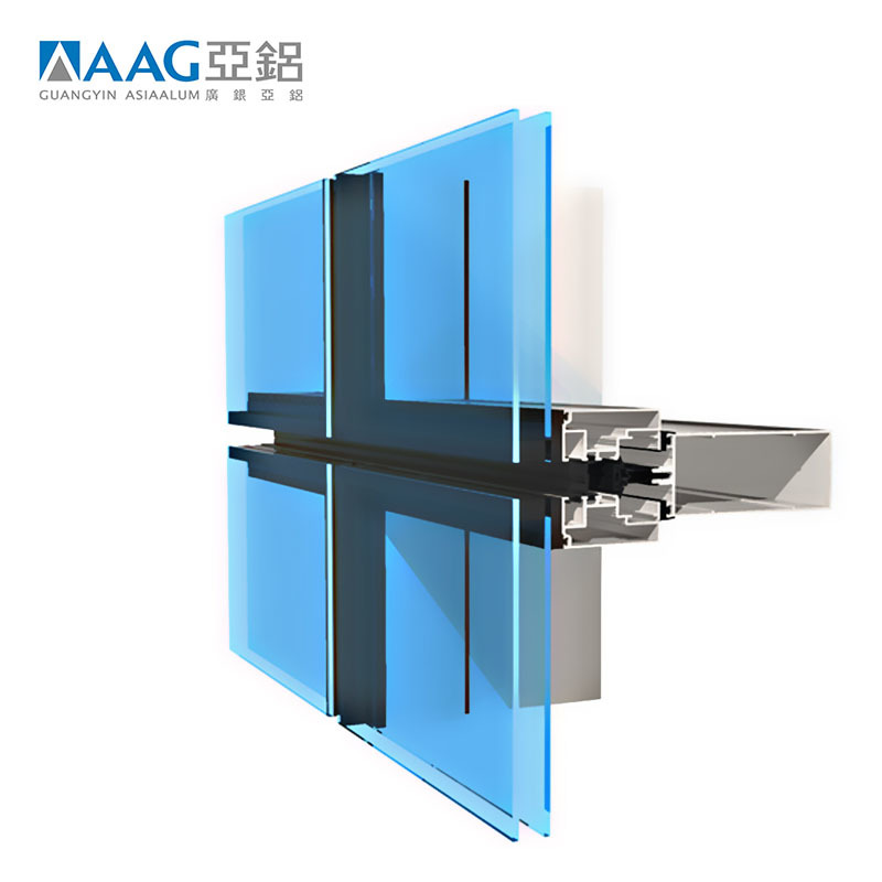 Unbelievable quality aluminum unitized curtain wall mirror glass curtain wall