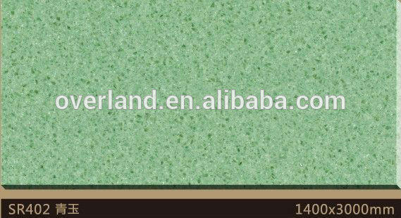 Green color artificial quartz stone