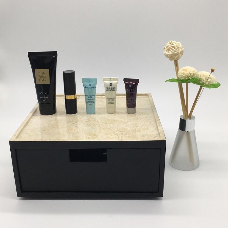 Black Marble Decorative Hotel Resin Tableware Storage Box