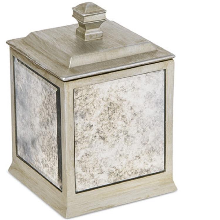 Home Decor Shinny Mirror Resin Accessories Cotton Box Jars Set