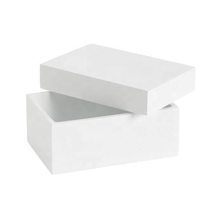 Luxury White Resin Bathroom Accessories Storage Box
