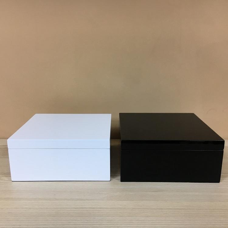 Black and White Square Resin Decorative Organizer Storage Boxes