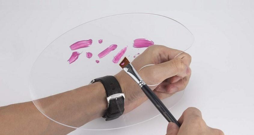 Wet palette painting black transparent face art watercolor paint palette