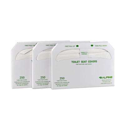 Disposable tissue paper toilet seat cover