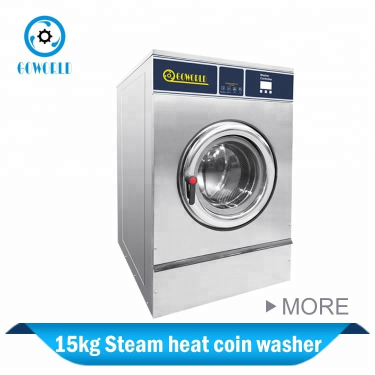 15kg steam heating coin operated laundry equipment