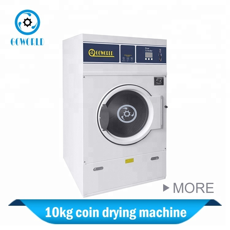10kg gas heating coin insert commercial dryer commercial laundry machine