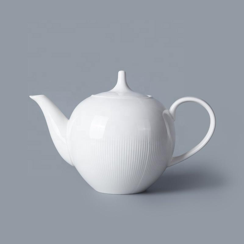 Western Style Restaurant Use Porcelain White 500ml 1100ml Coffee Pot, Hotel Crockery Coffee Pot^
