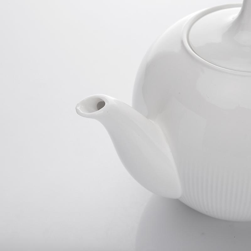 Restaurant Real Durable Dinnerware White Teapots Porcelain Set Porcelain Oval For Parties&