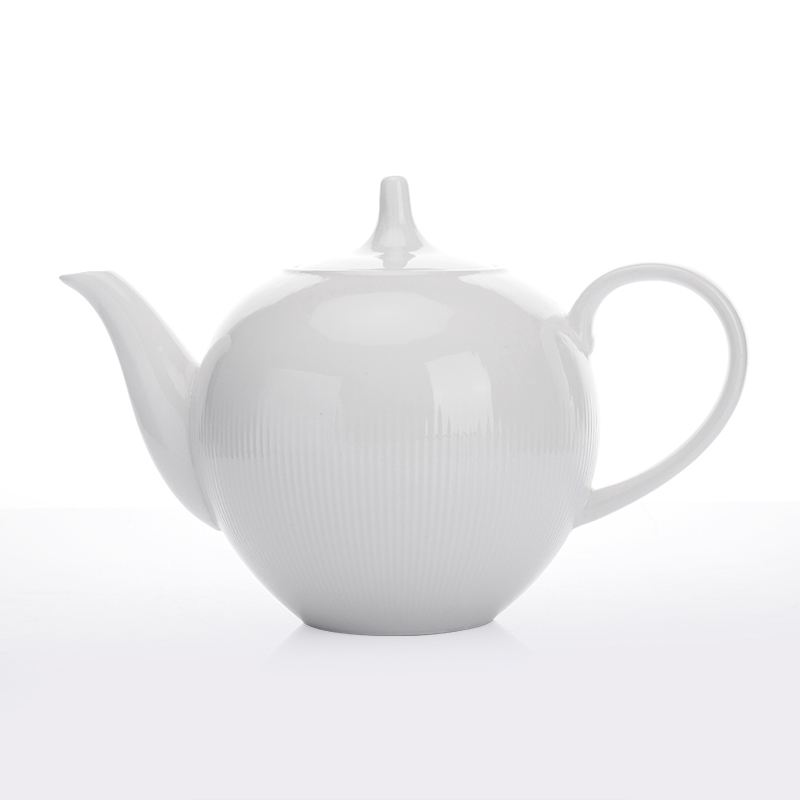 Restaurant Real Durable Dinnerware White Teapots Porcelain Set Porcelain Oval For Parties&