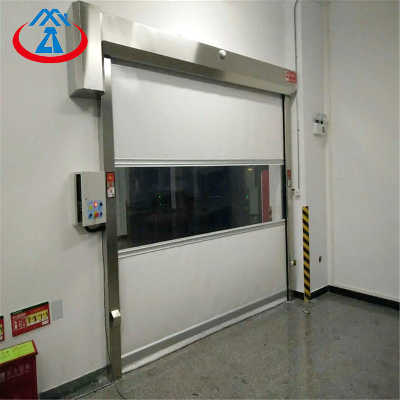 Transparent Roller Shutter Door Plastic High SpeedPVC Industrial Roll Up Door Free N95 Mask