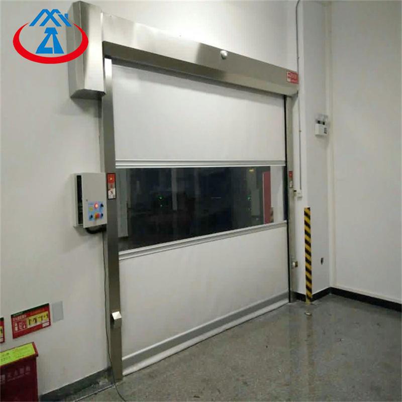Transparent Roller Shutter Door Plastic High SpeedPVC Industrial Roll Up Door Free N95 Mask