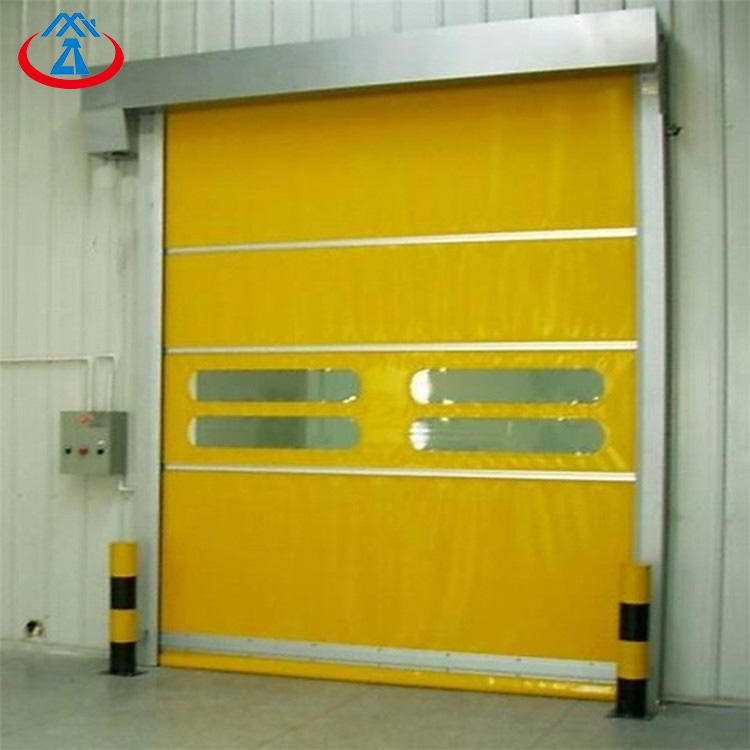 electric quick open shutter roll up door for PVC