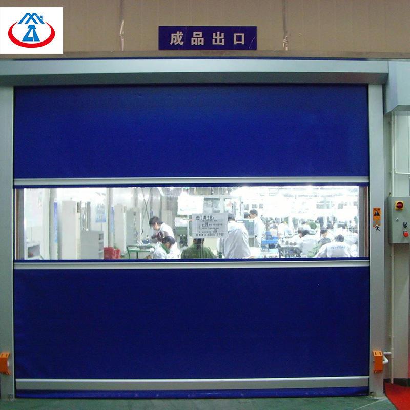 Industrial PVChigh speed roll up door / rapid door within 9 square meters