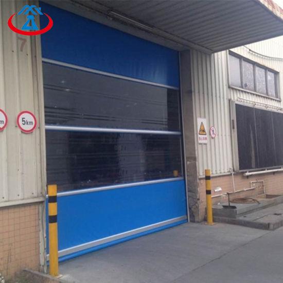 Wholesale Blue Coloured PVC Quick Shutter Door Electric Fast Rapid Rolling Shutter Door