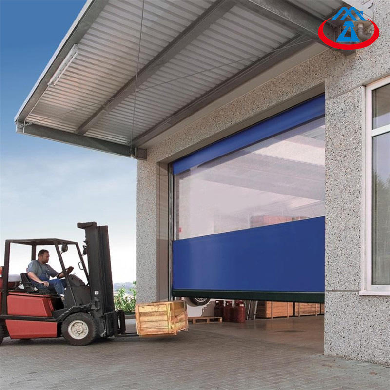 Transparent PVC automatic high speed sheet doors clean room Fast Rolling shutter door Free N95 Mask