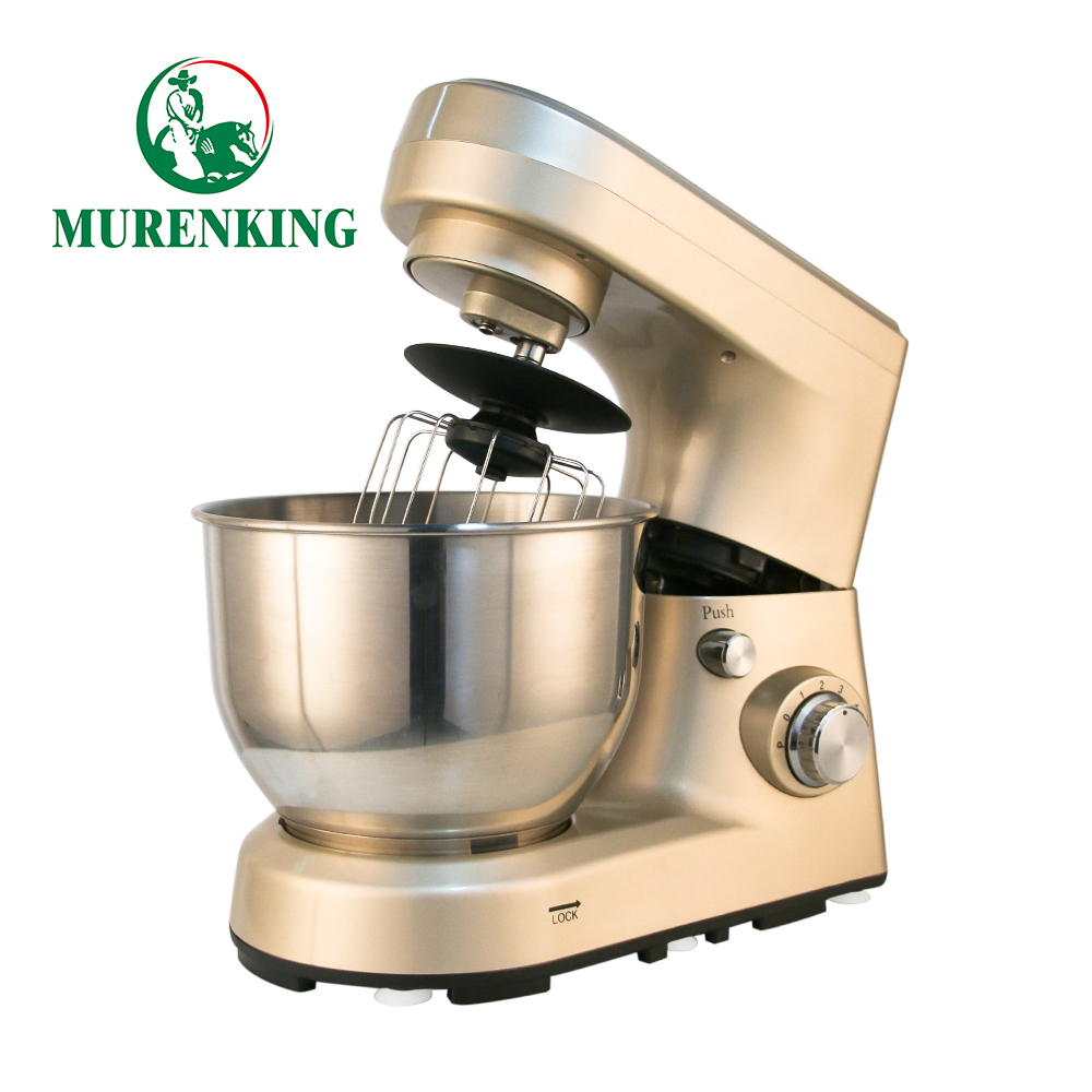 Muren Professional Stand Mixer 1200W 5L Bowl 6-Speed Tilt-Head Plastic Food ElectricKitchen Machine