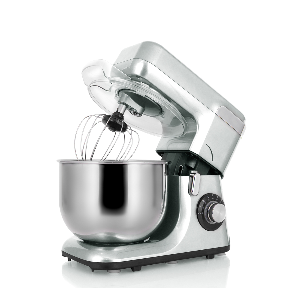 MK-55 Good Quality 1200W 8 Speed plastic shell Stand Food Mixer With a Rotating Bowl For Kitchen Sale